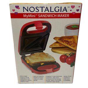 Nostalgia My Mini Sandwich Maker Nonstick Compact
